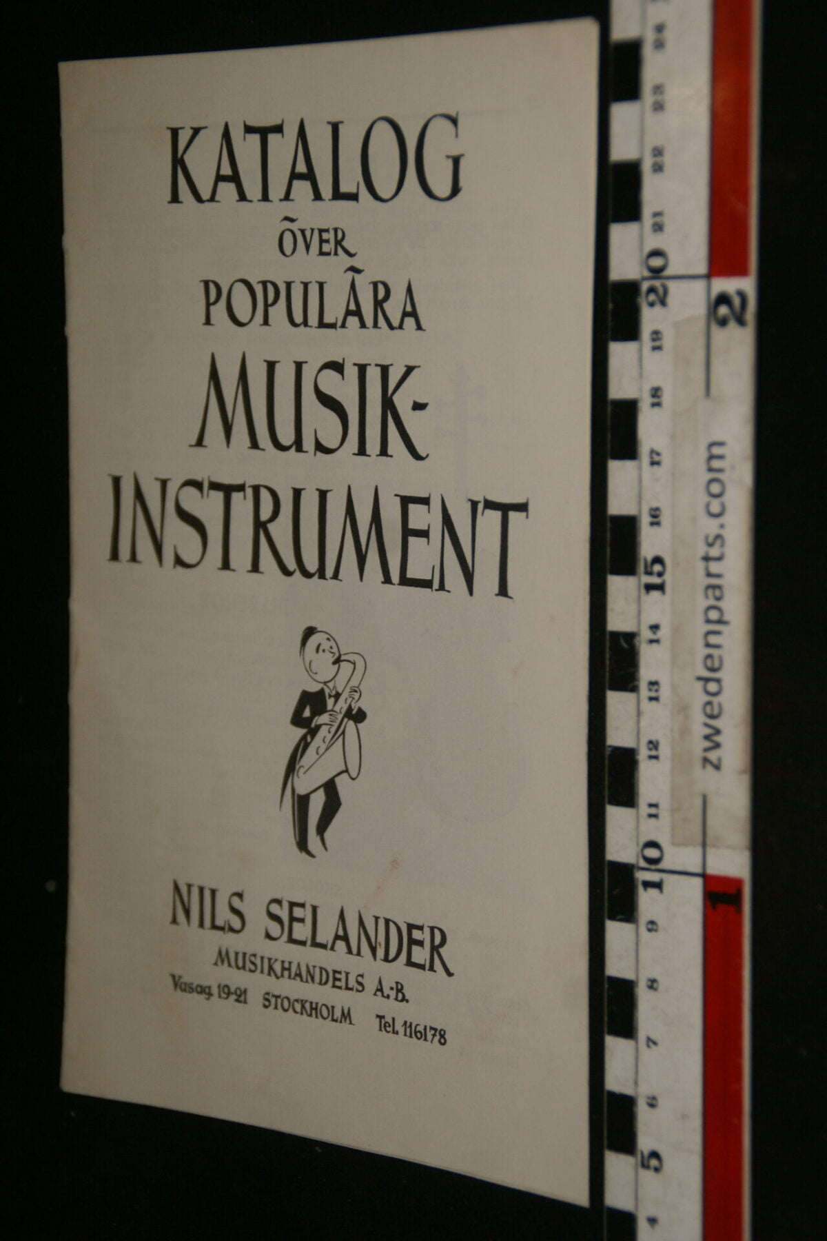 DSC00295 40er jaren originele vintage katalogus musik instrument Svensk-f4d5b6b9