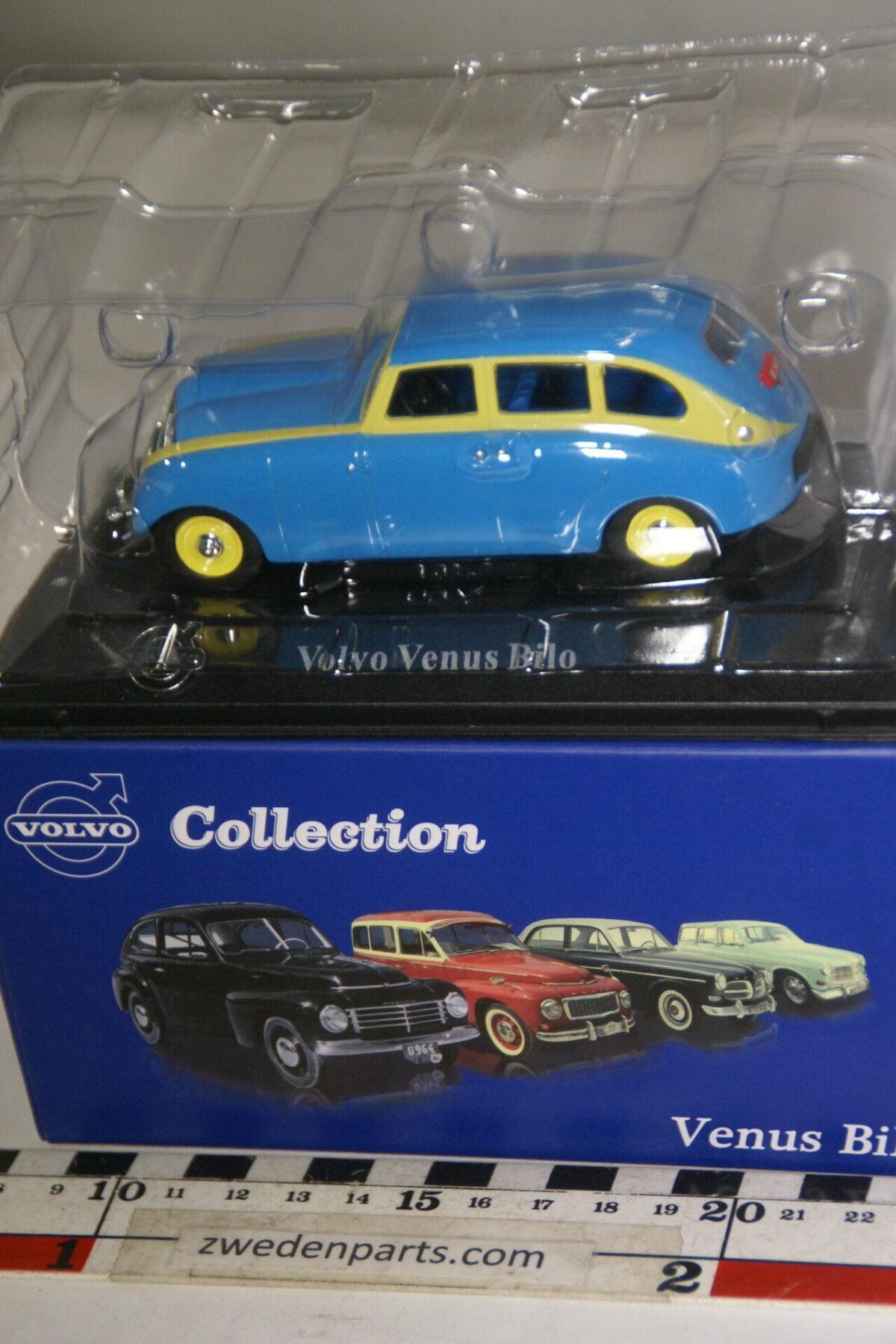 DSC00490 miniatuur Volvo Venus Bilo blauw geel 1op43 Atlas 86 nieuw in originele verpakking-ba1e9239