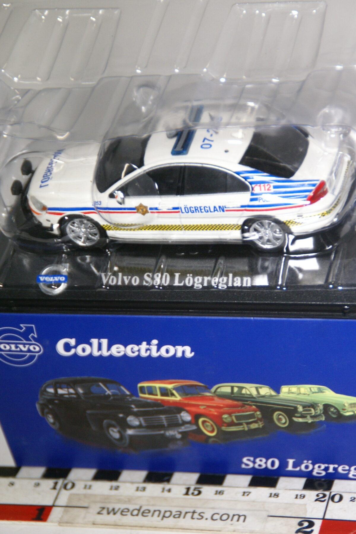 DSC00494 miniatuur Volvo S80 politie Lögreglan 1op43 Atlas 89 nieuw in originele verpakking-d27e07da