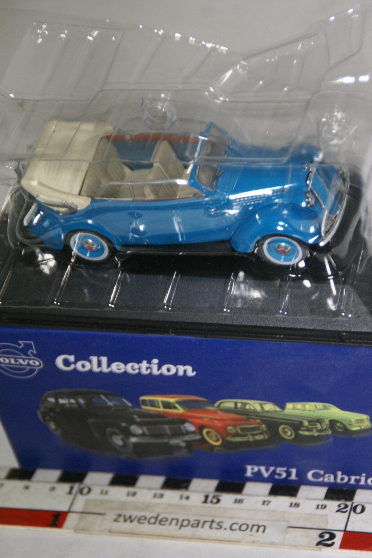 DSC00508 miniatuur Volvo PV51 Cabriolet blauw 1op43 Atlas 63 nieuw in originele verpakking-0262172e