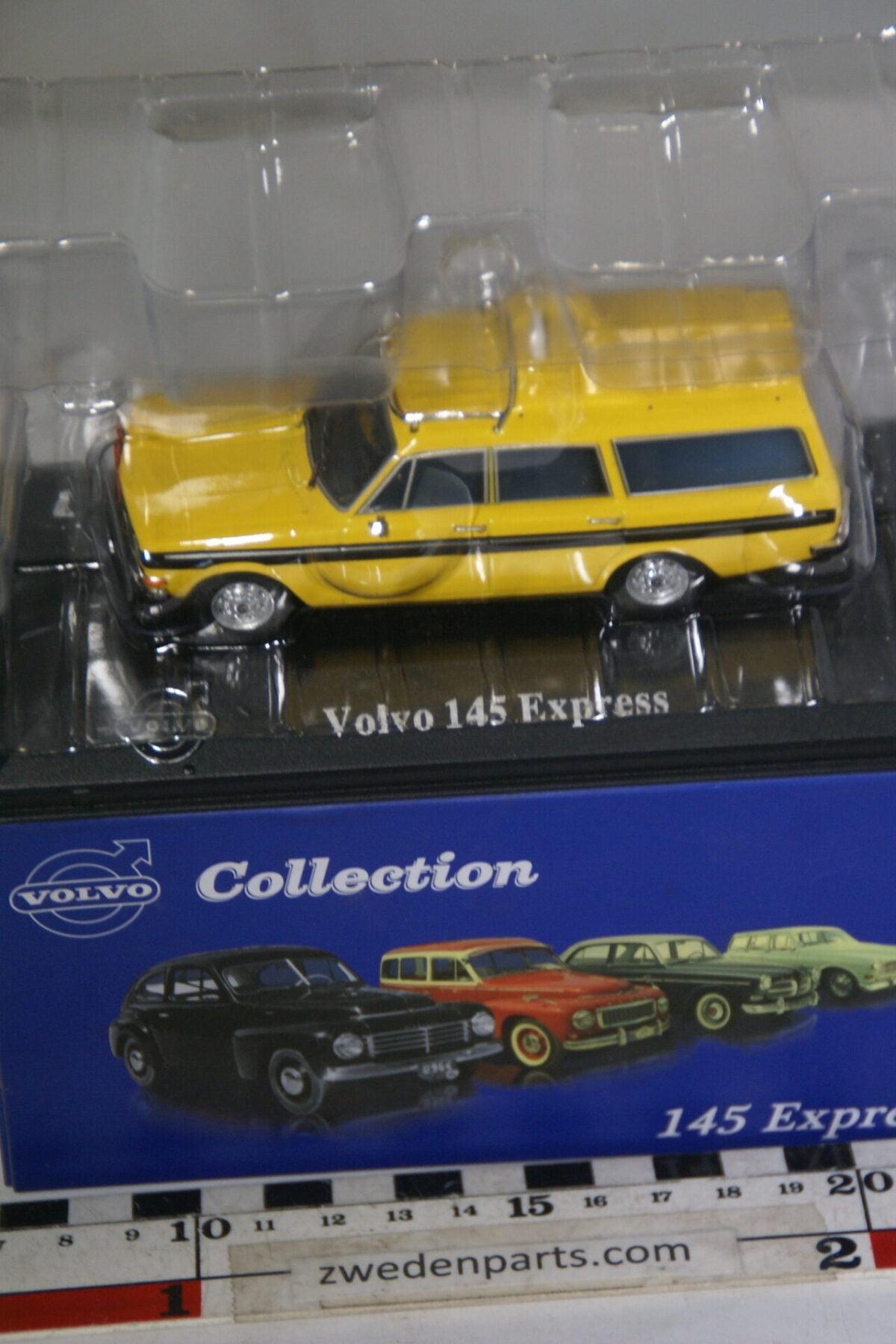 DSC00510 miniatuur Volvo 145 Express geel 1op43 Atlas 40 nieuw in originele verpakking-623f9256