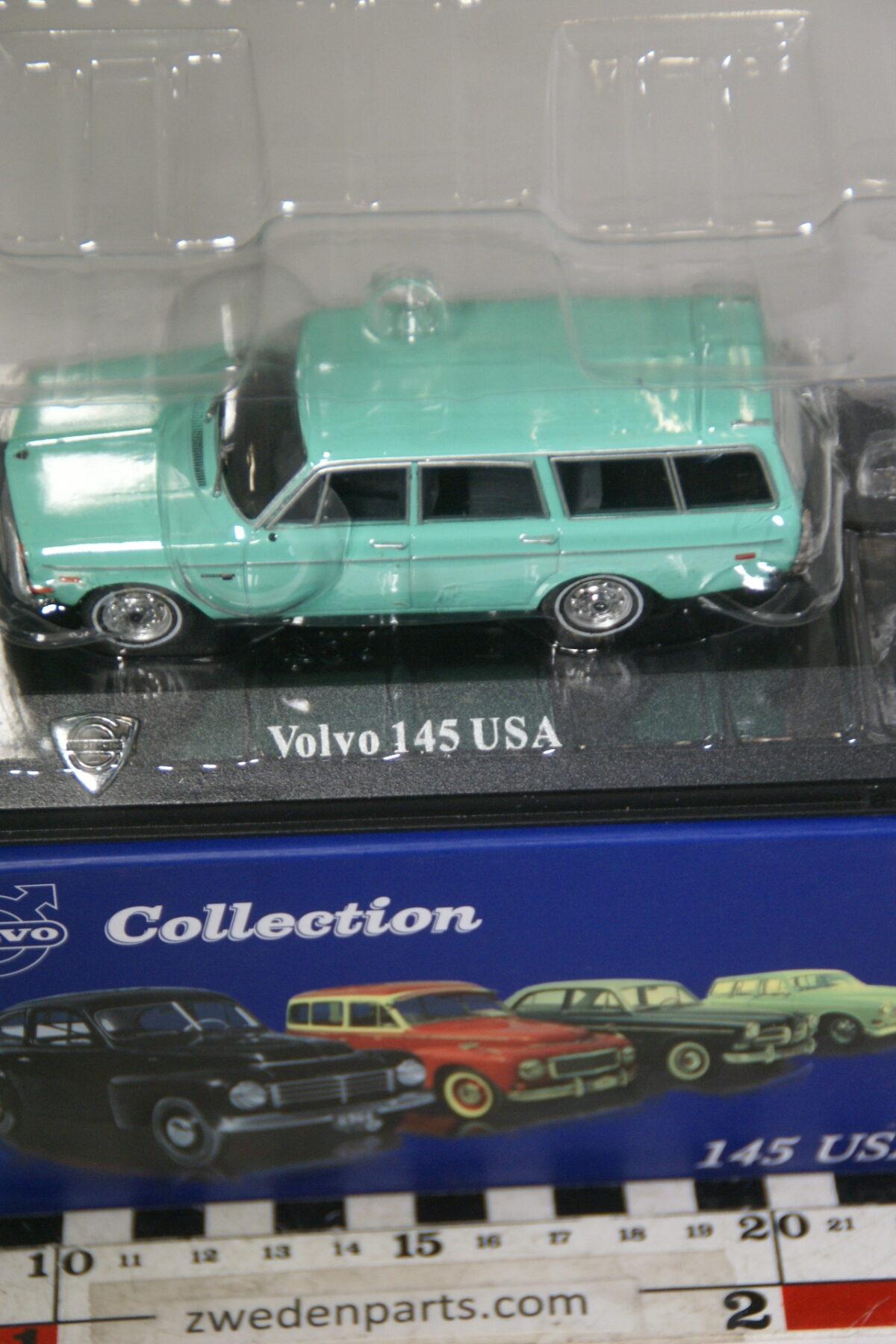 DSC00515 miniatuur Volvo 145 USA lichtgroen 1op43 Atlas 64 nieuw in originele verpakking-ad119736