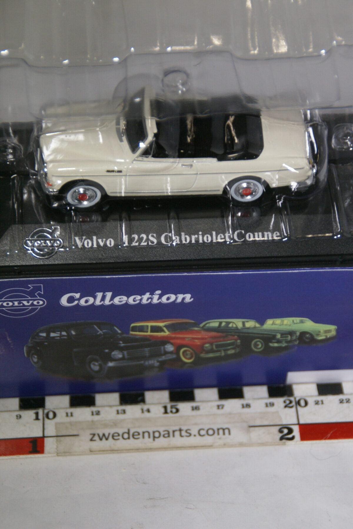 DSC00531 miniatuur Volvo Amazon Coune Cabriolet wit 1op43 Atlas 68 nieuw in doos-493ea25d