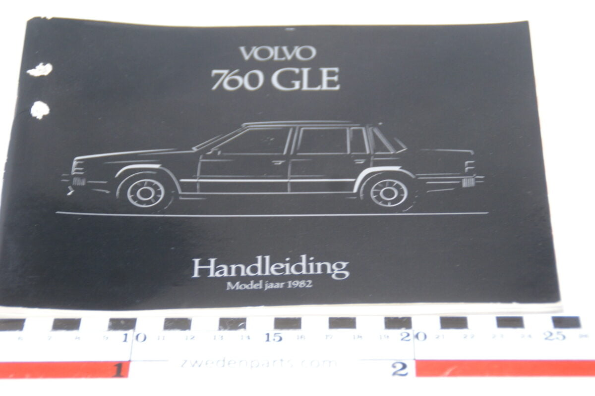 DSC07709 1982 originele instructieboekje Volvo 760GLE 1 van 1.750 nr TP 2316-1-d6a30084