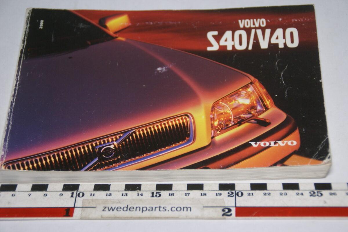 DSC07715 1999 originele instructieboekje Volvo S40 V40 nr TP 4535-1 Svensk-326622d6