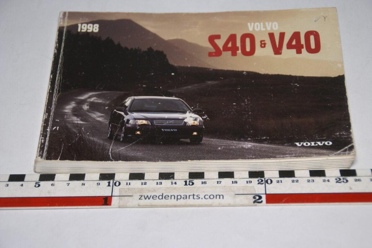 DSC07717 1997 originele instructieboekje Volvo S40 V40 nr TP 4162-1 Svensk-a904da39