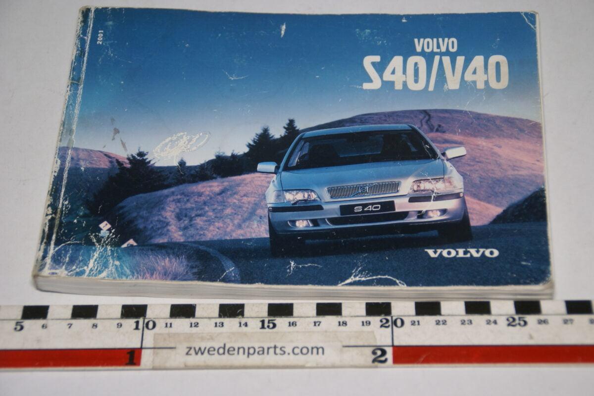 DSC07719 ca 2000 originele instructieboekje Volvo S40 V40 nr TP 4816 Svensk-39493407