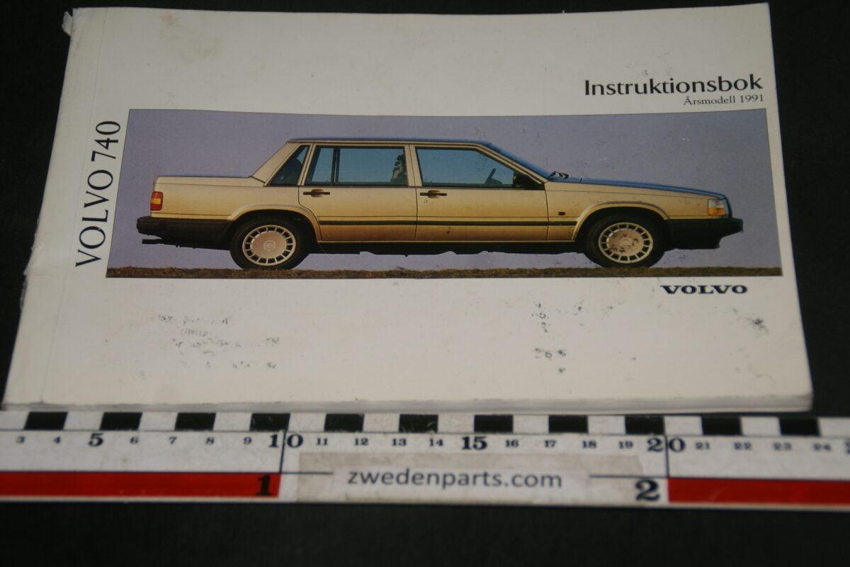 DSC07729 1991 originele instructieboekje Volvo 740 nr TP 3156-1 Svensk-70effbd4