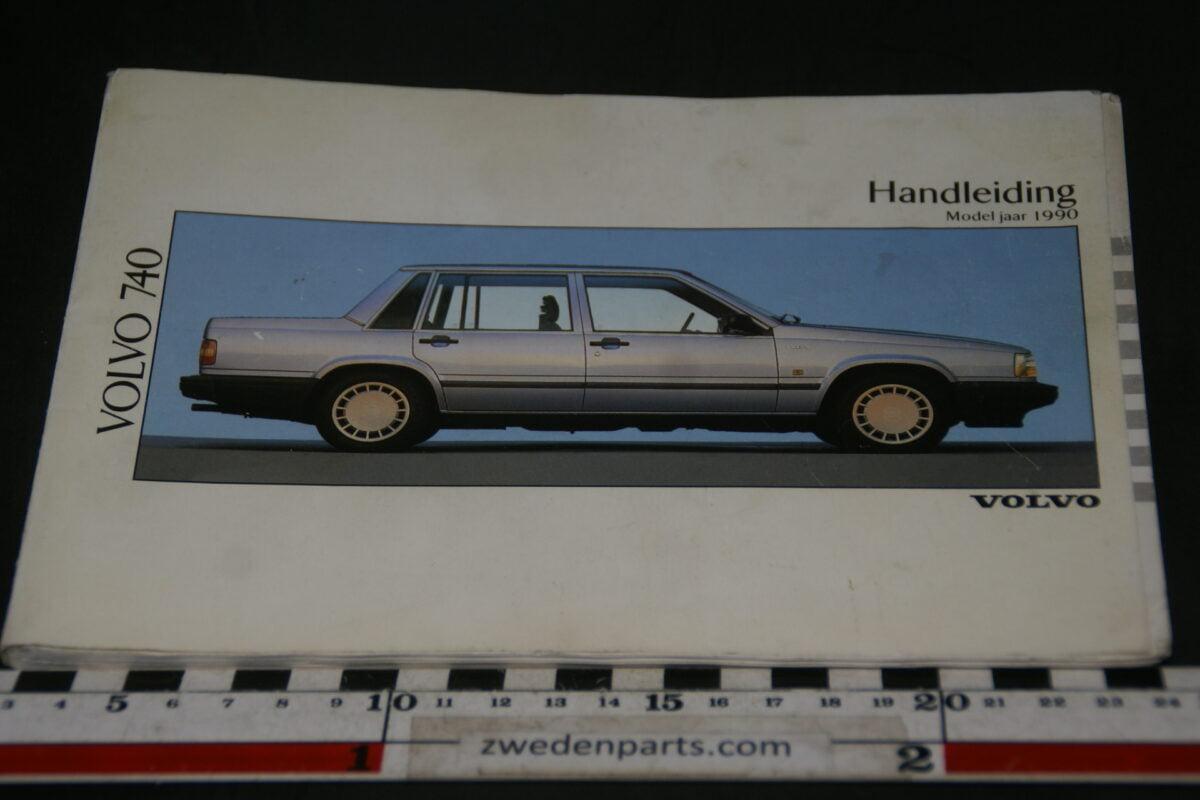 DSC07731 1990 originele instructieboekje Volvo 740 nr TP 3036-c47d893e