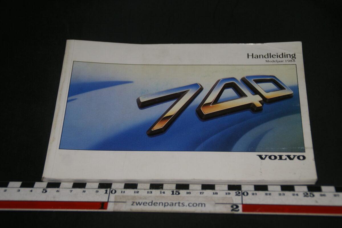 DSC07733 1988 originele instructieboekje Volvo 740 nr TP 2822-8fc44dde