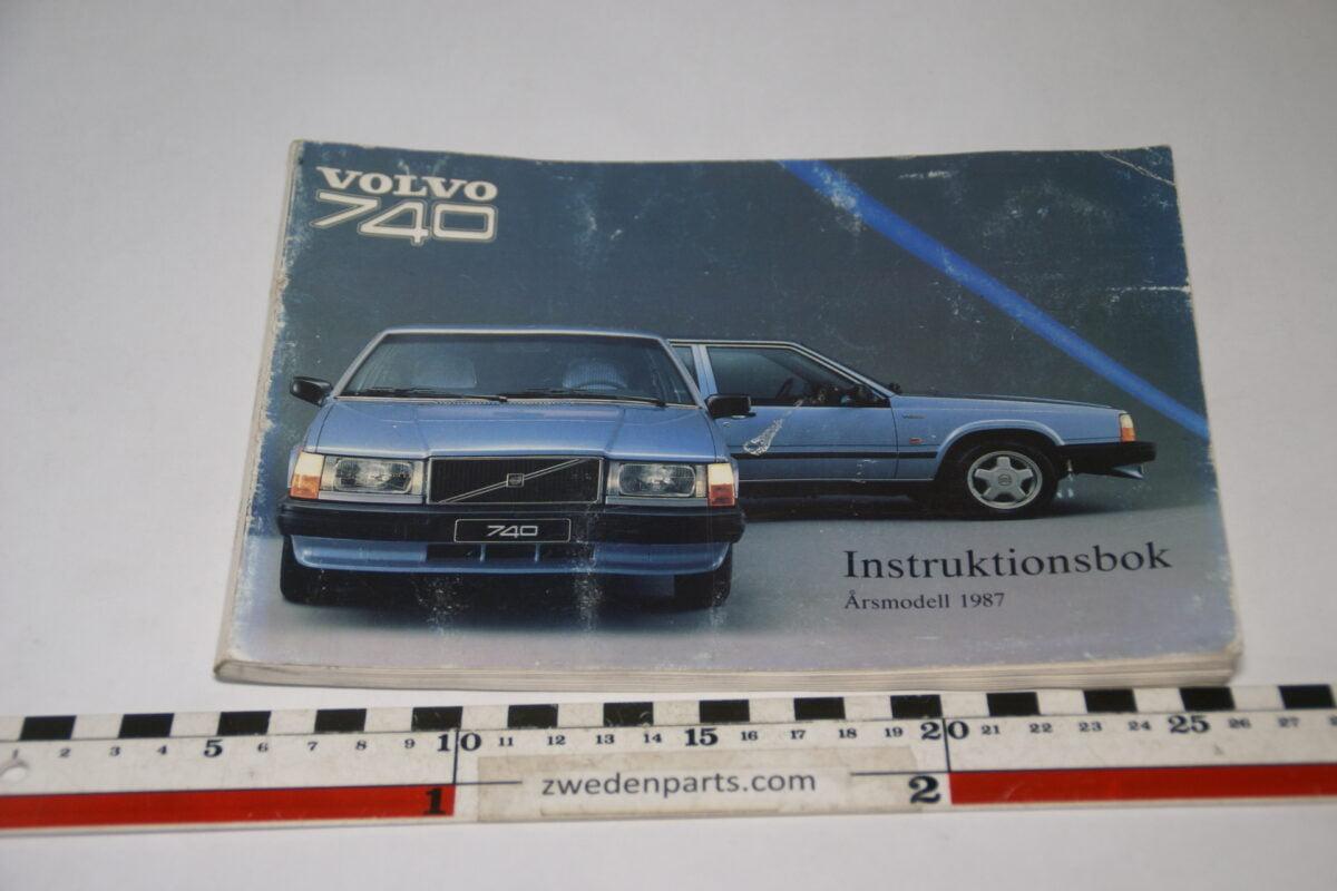 DSC07735 1986 originele instructieboekje Volvo 740 nr TP 2760-1 Svensk-cd5031d5