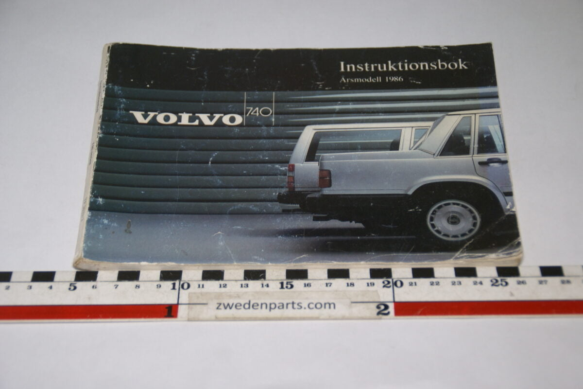 DSC07737 1986 originele instructieboekje Volvo 740 nr TP 2632-2 Svensk-63f03116