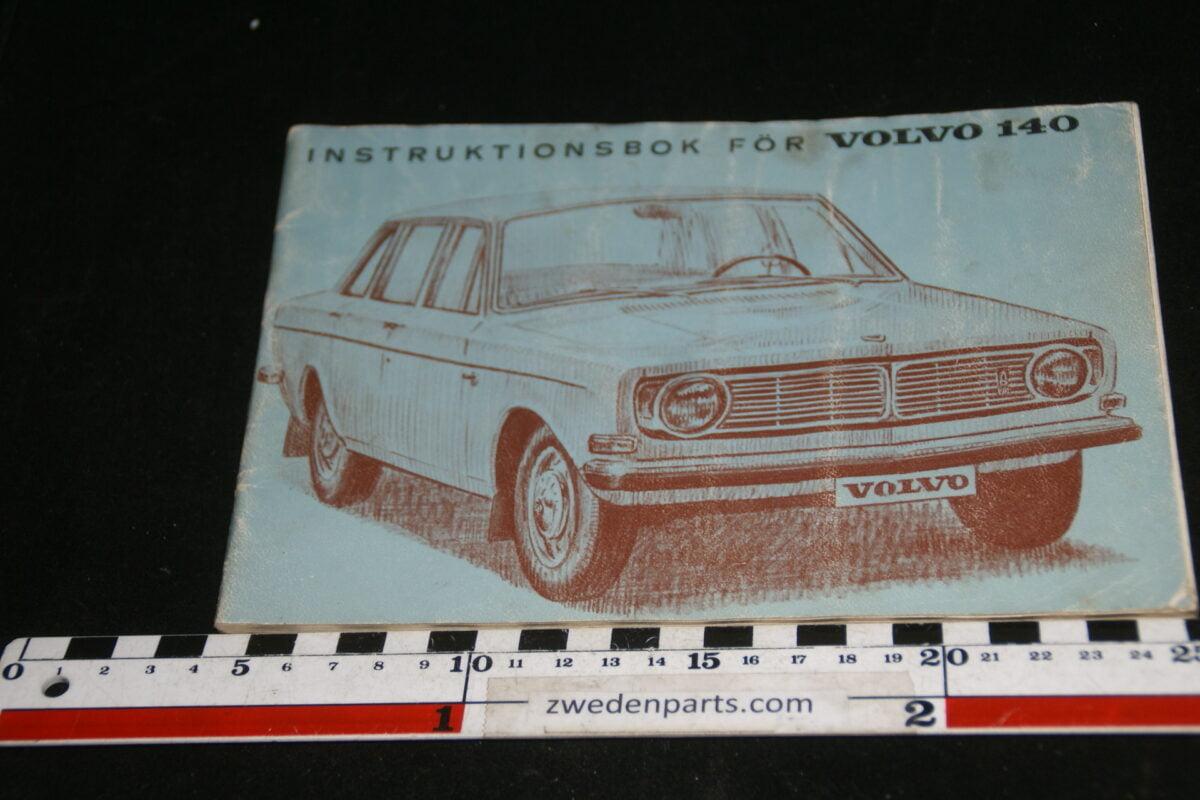 DSC00157 1968 origineel Volvo 140 instructieboekje TP583-1, Svensk-a421590f