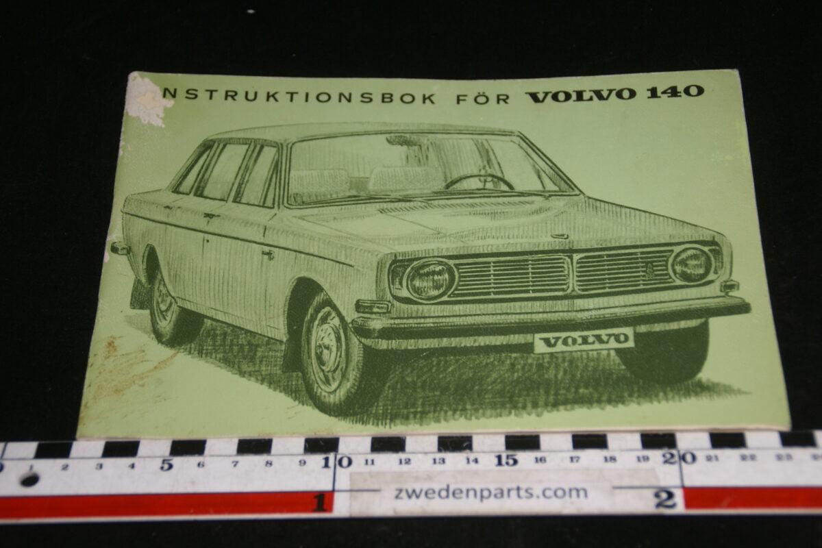 DSC00161 1969 origineel Volvo 140 instructieboekje TP661-1, Svensk-d81ddcc2