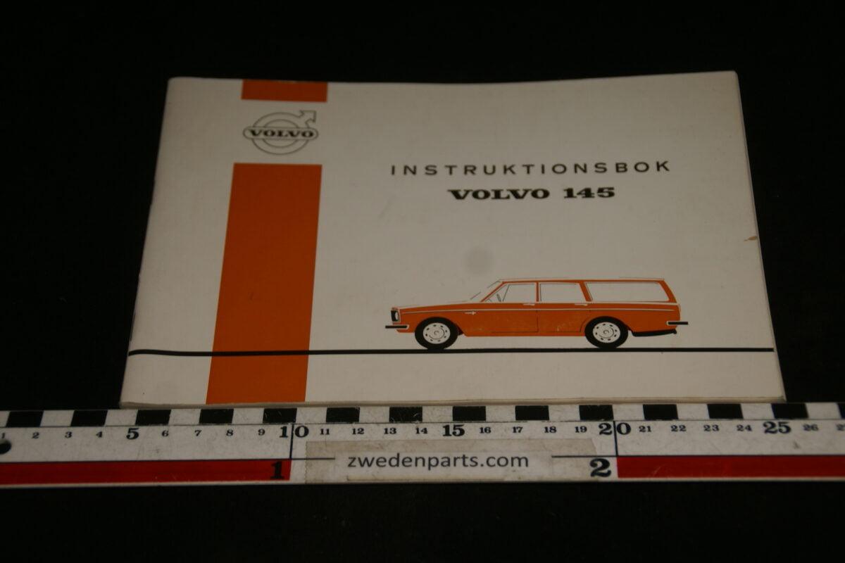 DSC00165 1970 origineel Volvo 145 instructieboekje TP764-1, Svensk-d3fe3465