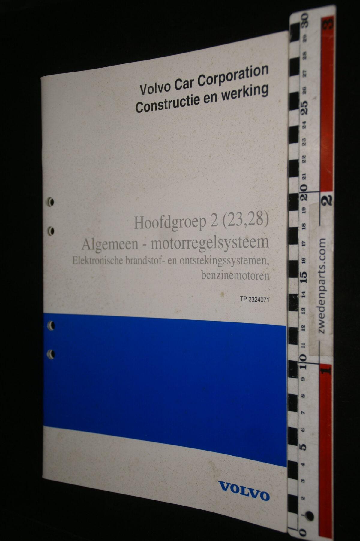 DSC00171 1996 origineel Volvo 2 (232,28) motorregelsysteem werkplaatsboek 1van 350 TP2324071-adadd9cd
