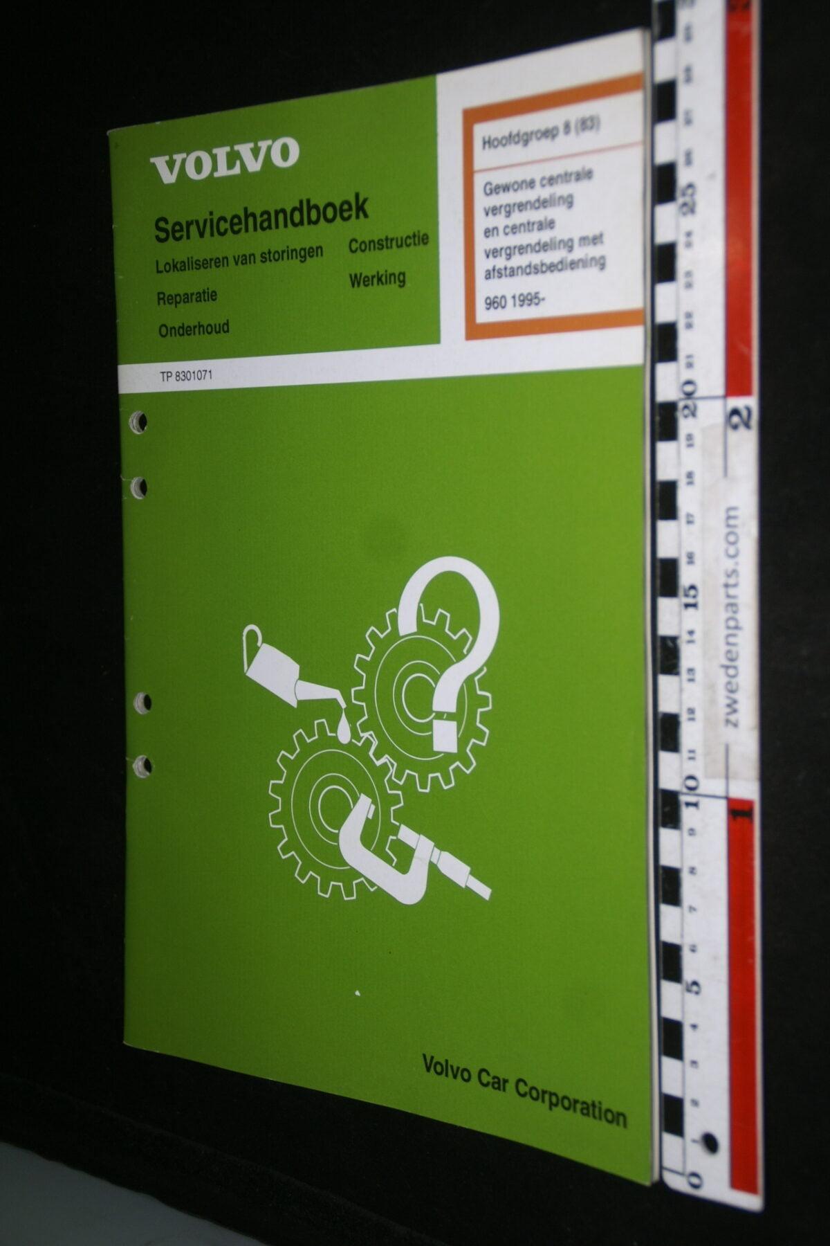 DSC00342 1994 origineel Volvo 960 werkplaatshandboek 8(83) centrale vergrendeling 1 van 800 nr TP 83010-1-6cf5cb5c