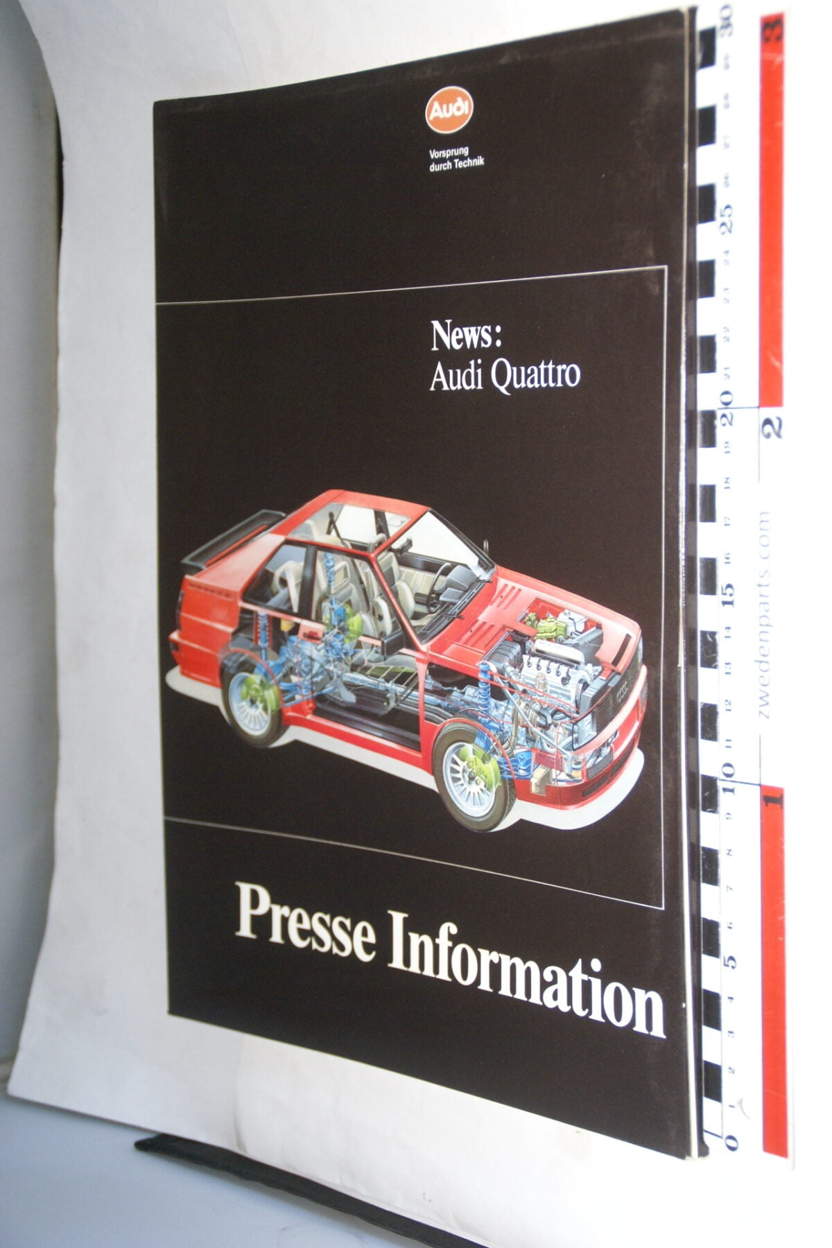 DSC01204 1995 persmap origineel Audi Quattro, Deutsch-be580e66