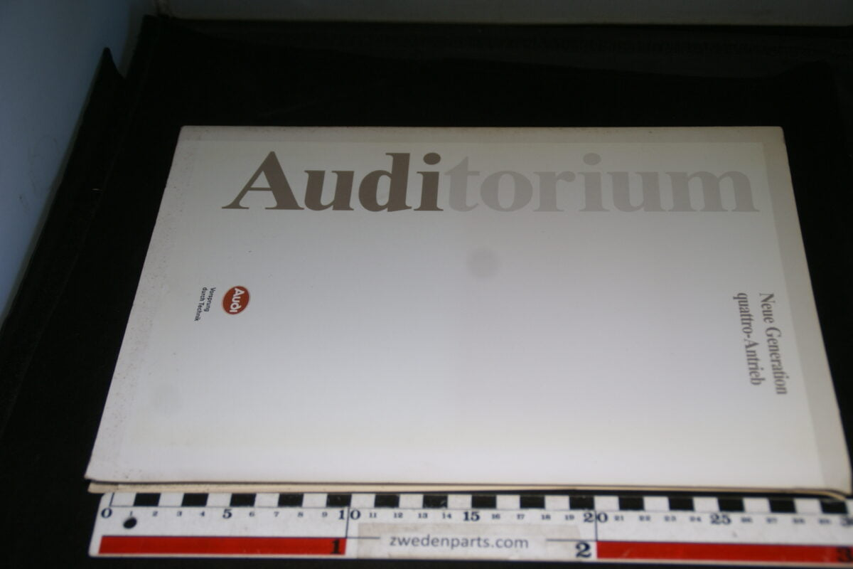DSC01212 1988 persmap origineel Audi Auditorium, permanente Quattro antrieb Deutsch-aa4cedbb