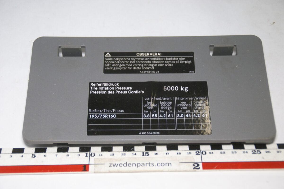 DSC09889 origineel Mercedes Sprinter binnendeksel nr A9065450003-4e64d67a