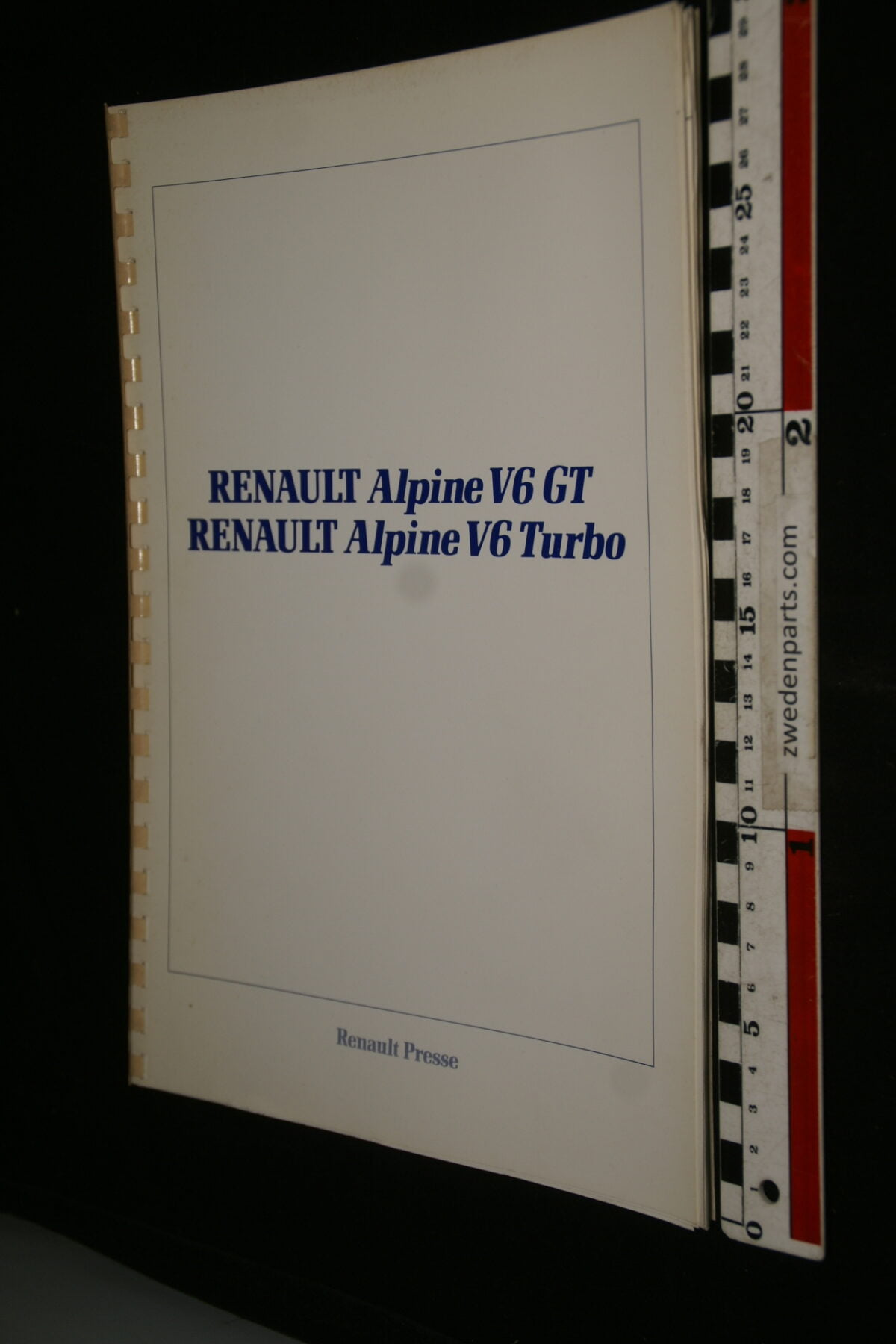 DSC00003 1990 originele persmap Renault Alpine V6GT en V6GT Turbo-d20f9a5f