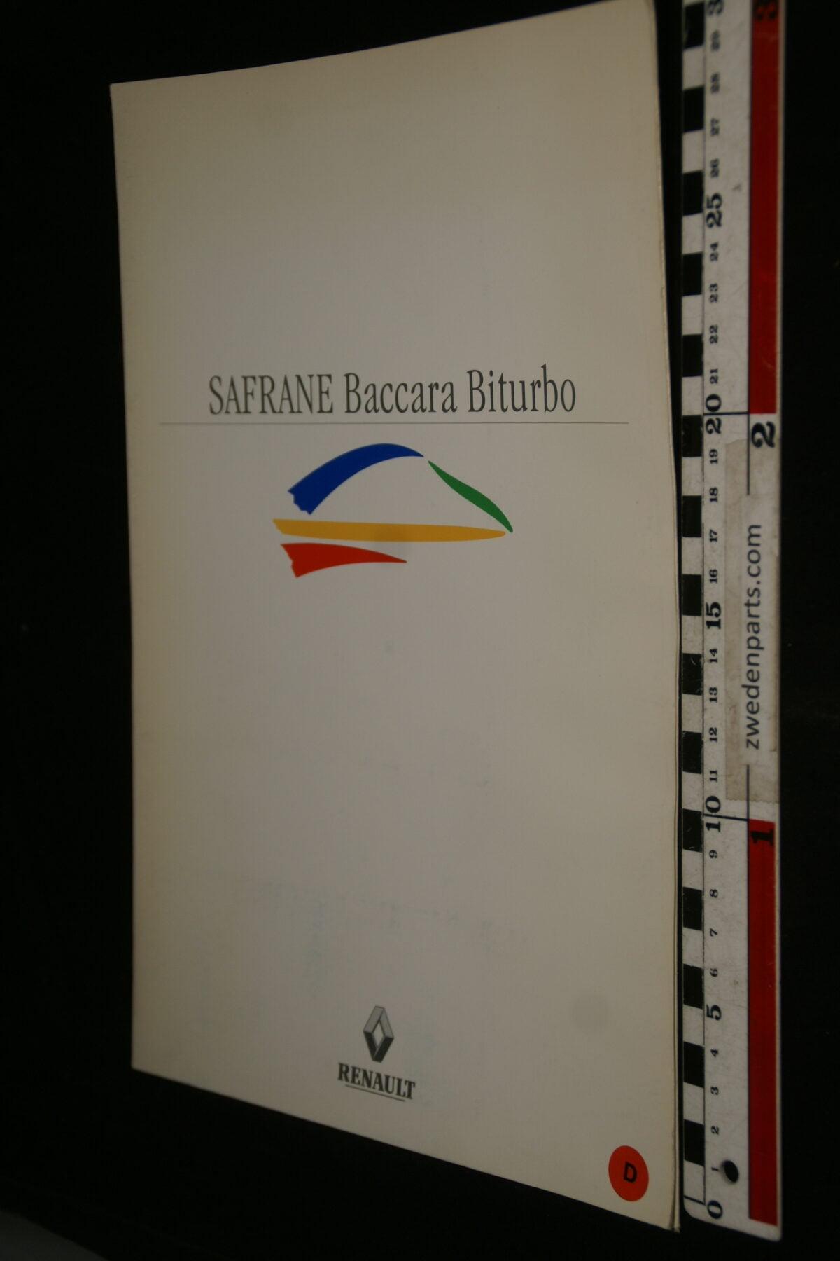 DSC00005 1990 originele persmap Renault Safrane Baccara Biturbo, Deutsch-be33d3fd