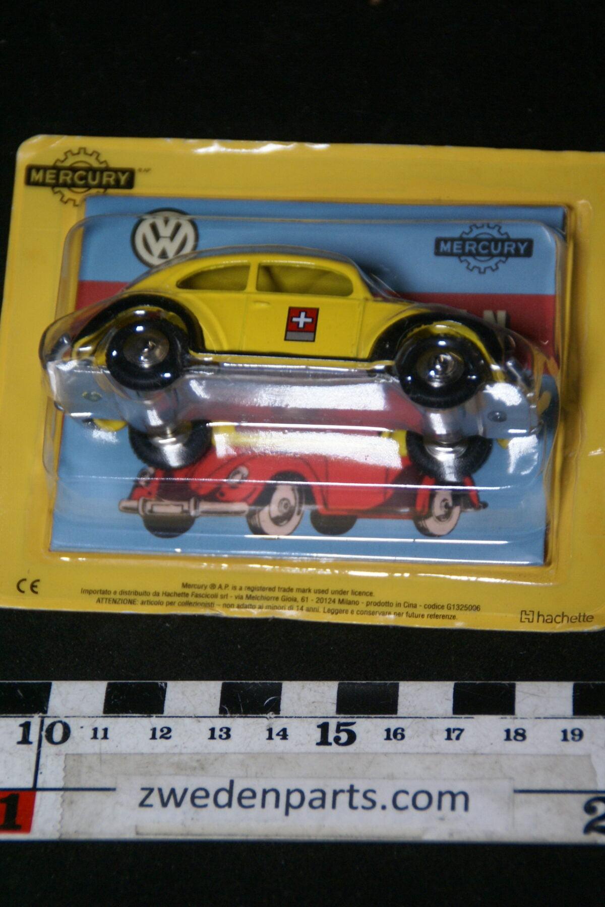 DSC01499 miniatuur Volkswagen Kever geel zwart 1op43 Mercury nr 15, MB-e5eabcac