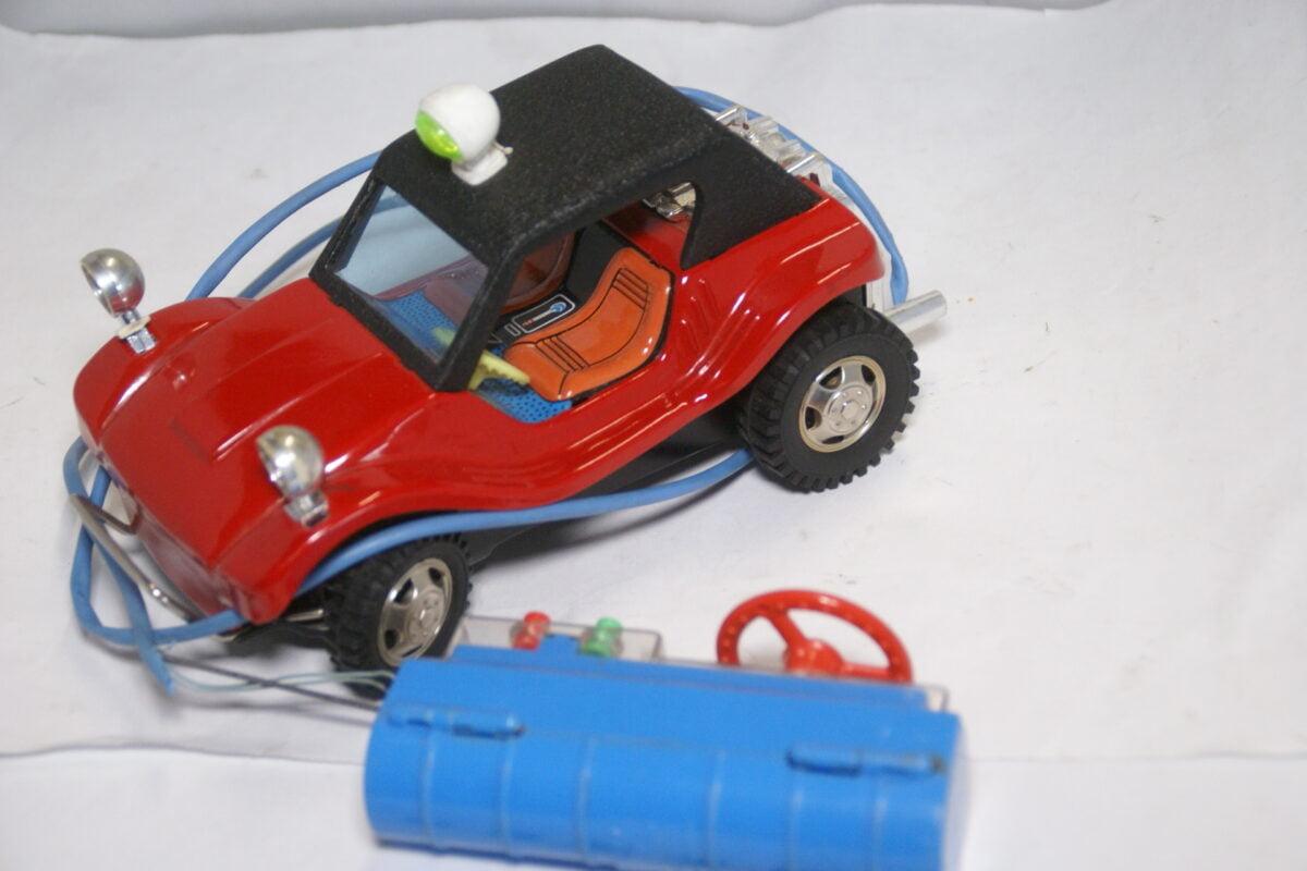 DSC02168 ca. 1965 miniatuur Buggie rood zwart met remote ca210 mm lang zeer goede staat Bandai-c4c59c2e