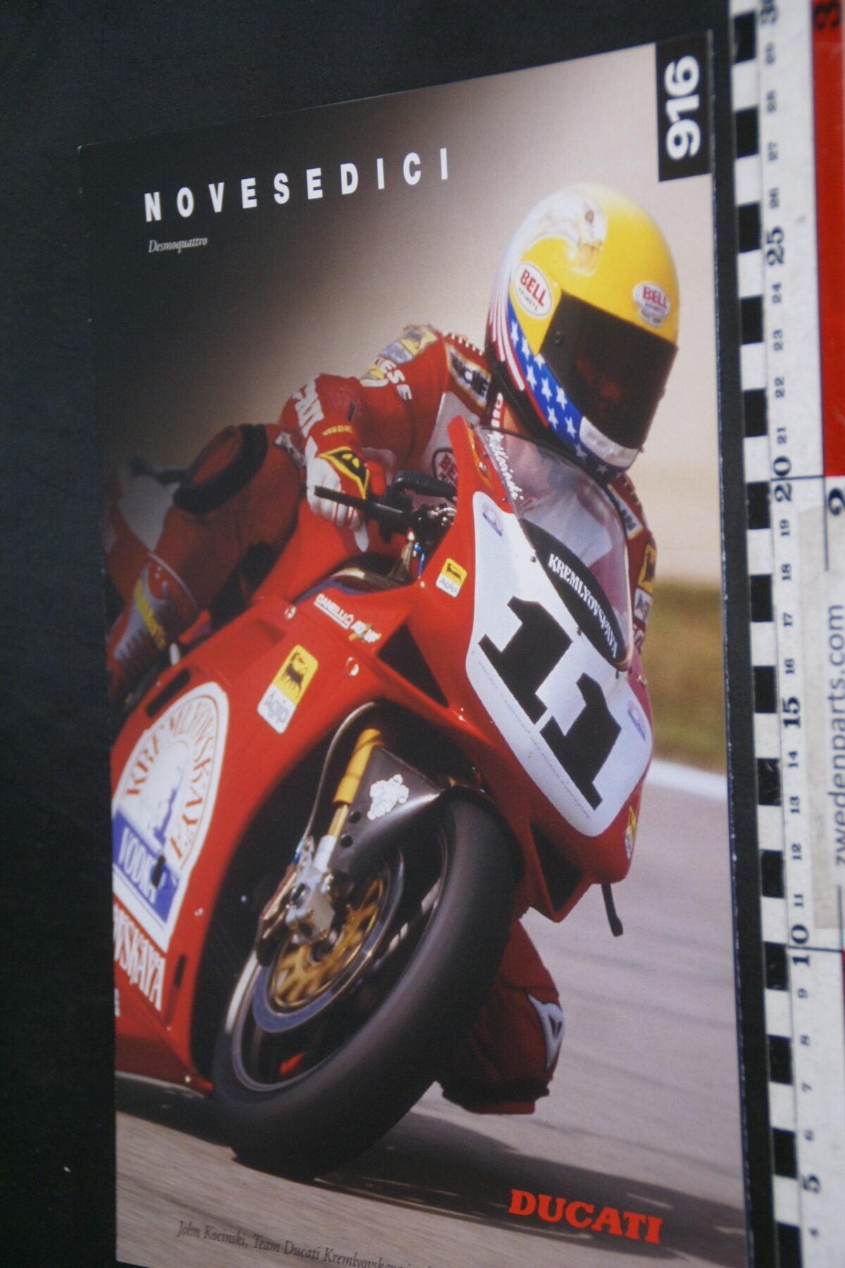 DSC02230 ca. 1995 originele brochure Ducati 916 motorfietsen nr D0132-b3888be9