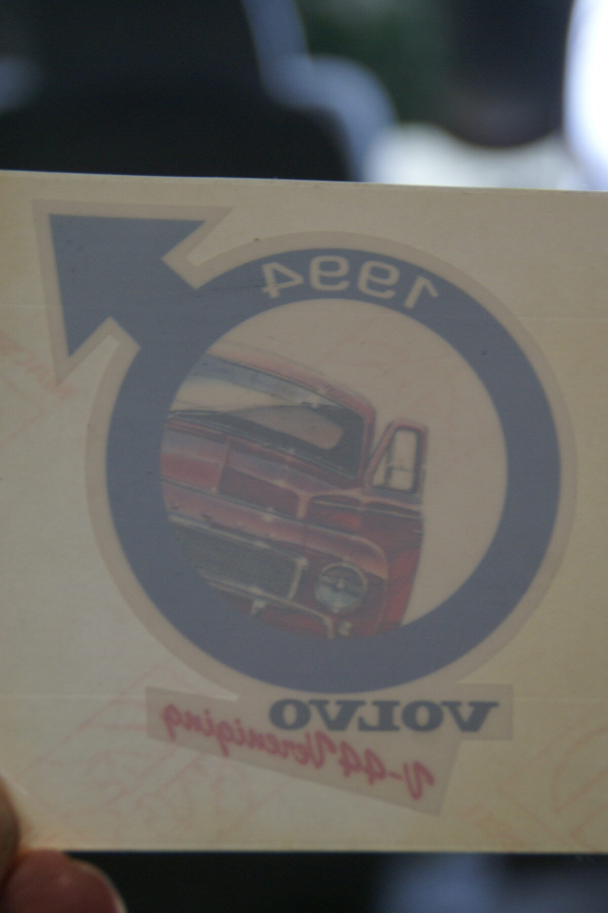 DSC02524 1994 sticker Volvo V44 Vereniging NOS-0fc4d129