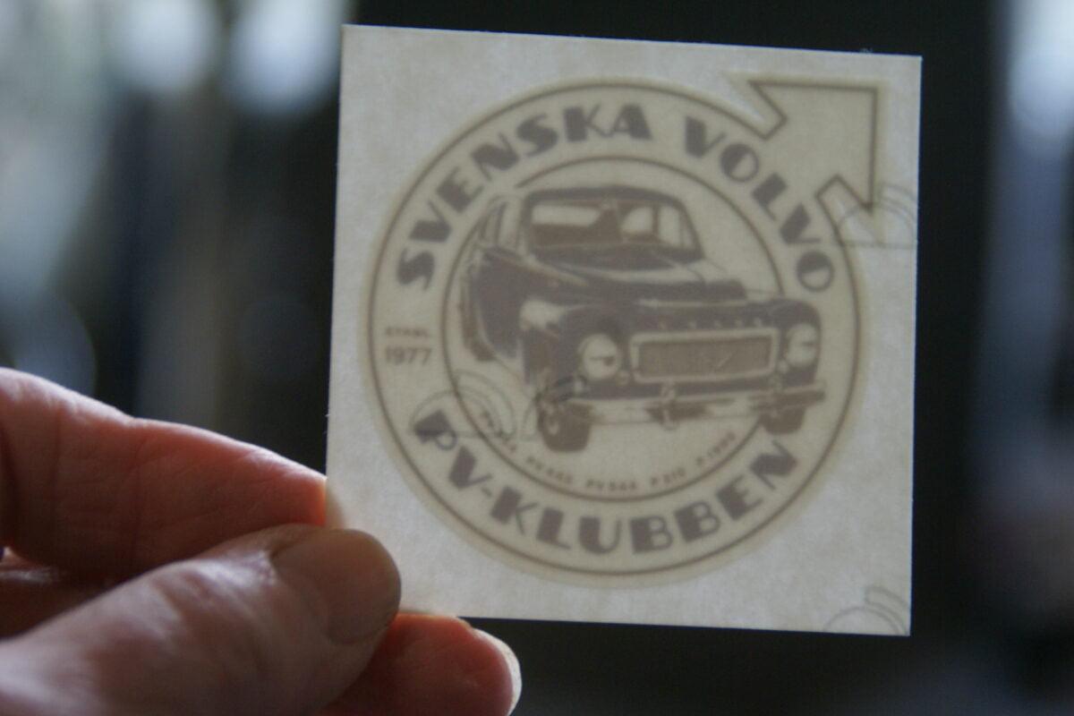 DSC02531 ca1977 sticker Volvo PV Klubben 444 445 544 210 1900 NOS-3c9a9f69