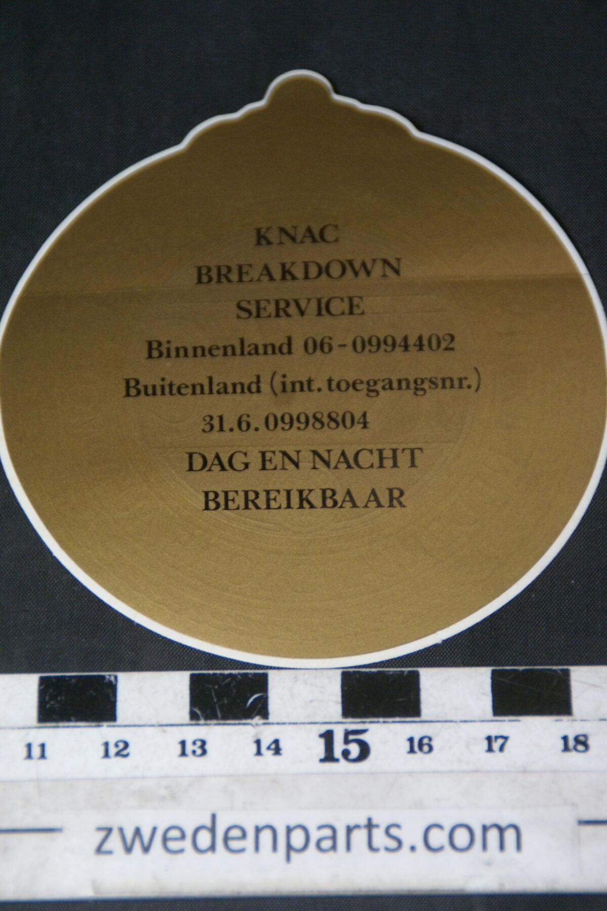 DSC02548 ca 1999 originele sticker KNAC NOS-6f2be15a