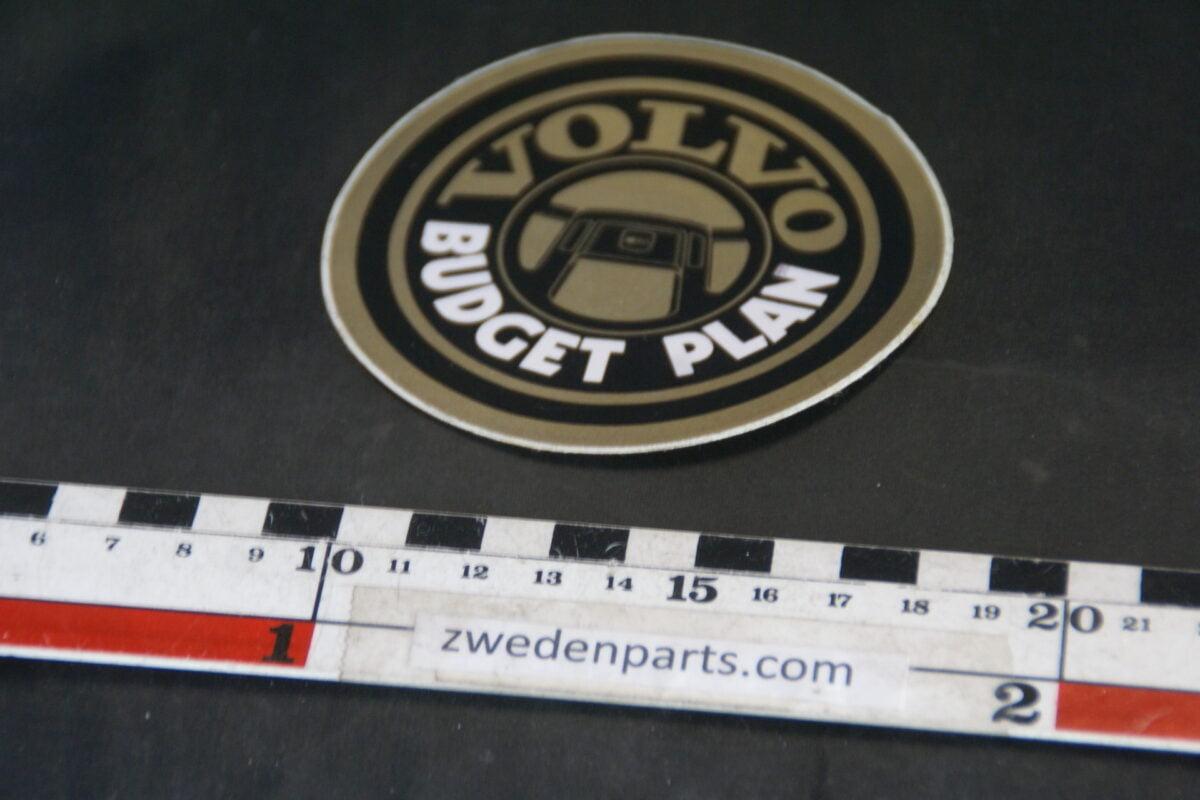 DSC02560 ca 1998 originele sticker Volvo Budget Plan NOS-0156c69c