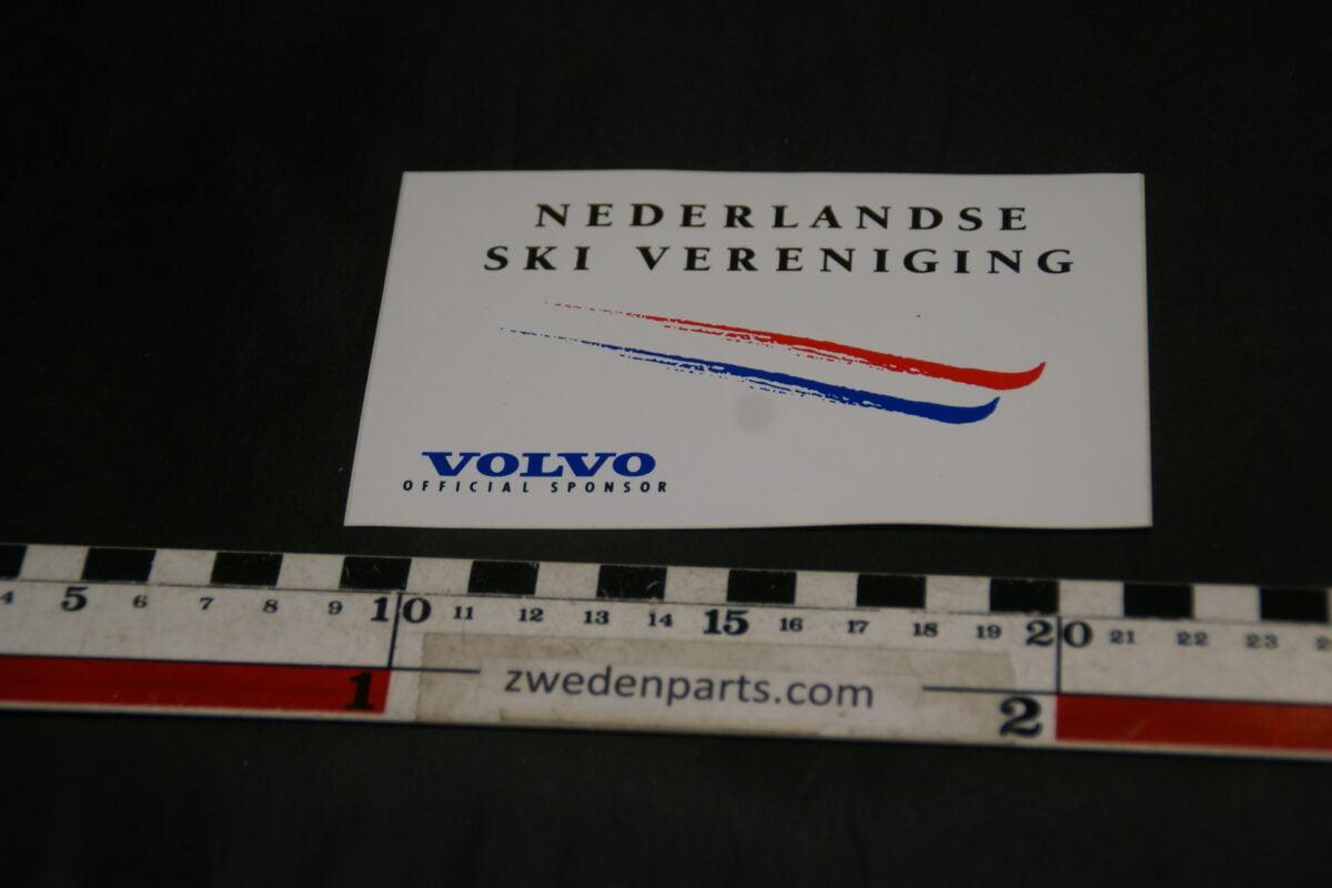 DSC02561 ca. 2002 originele sticker Volvo Nederlandse Ski Vereniging NOS-eae6b1d1
