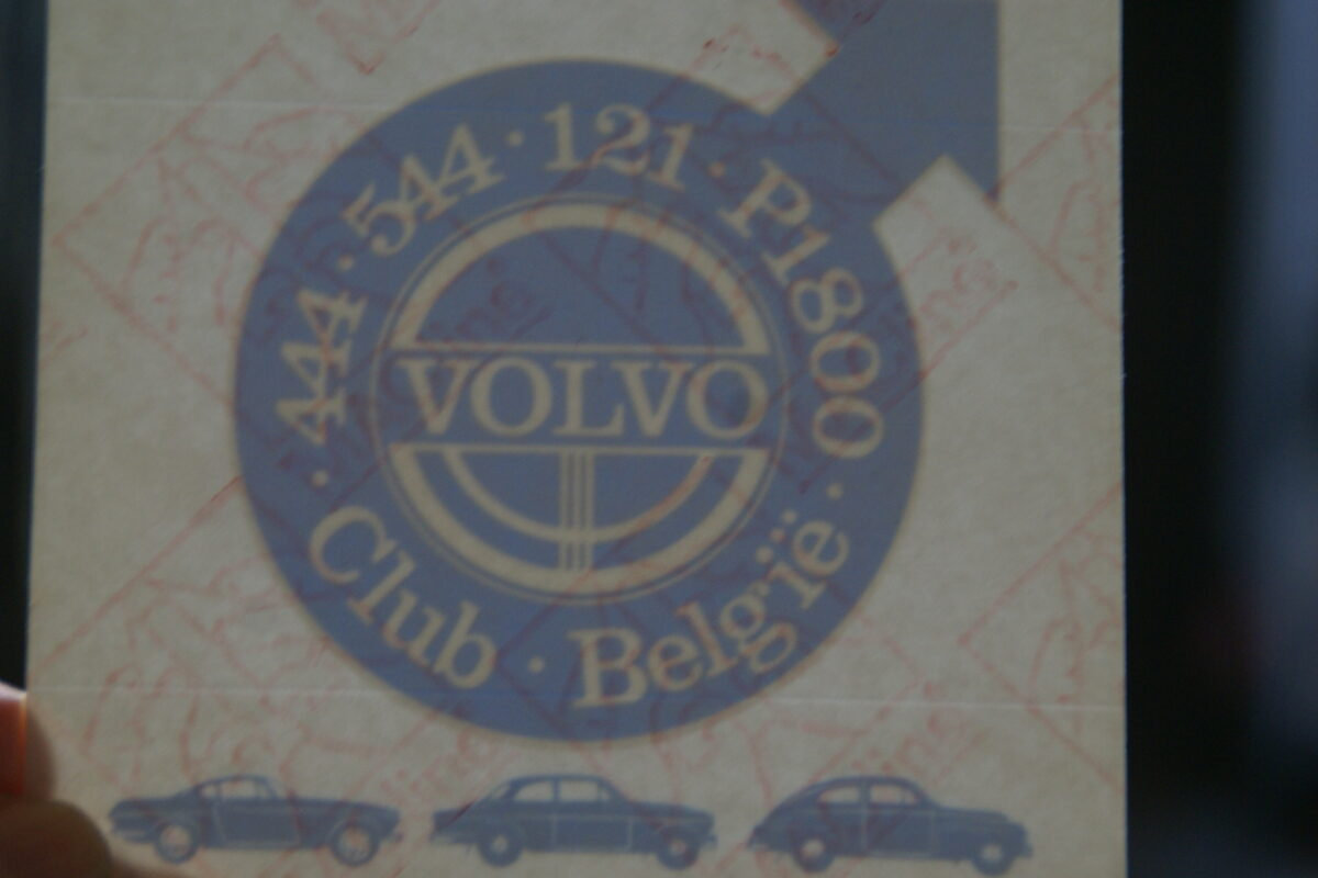DSC02563 ca. 1995 originele sticker Volvo Club Belgie 444 544 121 P1800 NOS-e44d342b