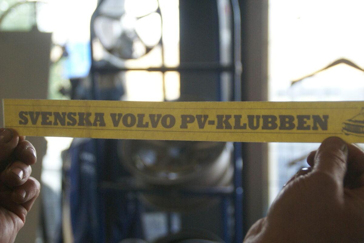 DSC02566 ca 2000 originele sticker Svenska Volvo PV Klubben NOS-de43e01b