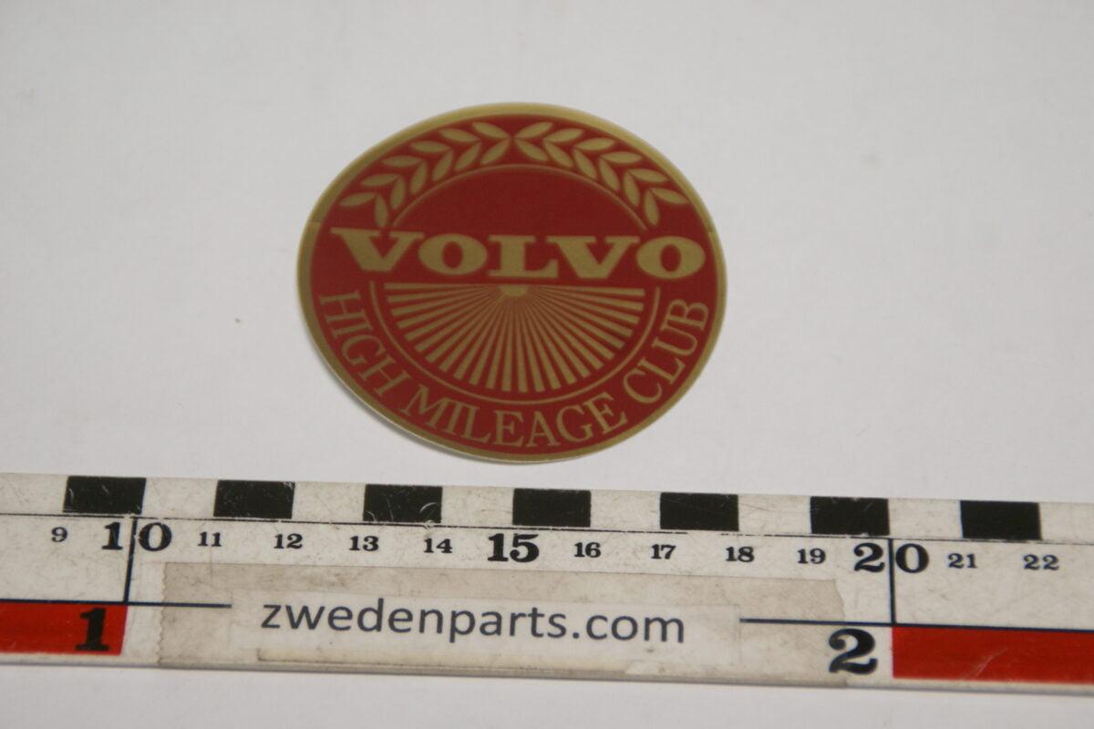 DSC02568 ca 1995 originele sticker Volvo High Milage Club NOS-cf6e1640