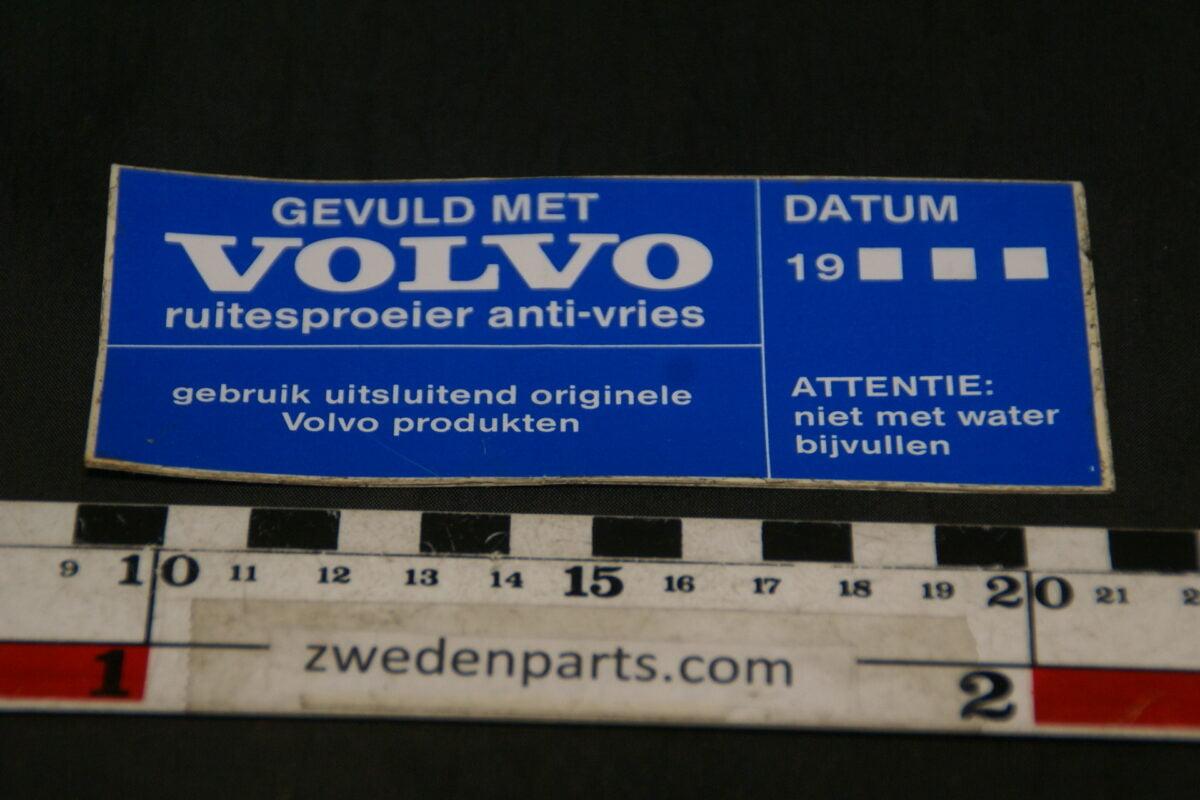 DSC02570 ca 1985 originele sticker Volvo anti-vries NOS-9b370702