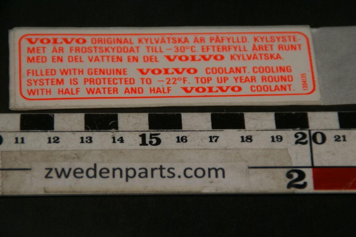 DSC02582 ca 1978 originele sticker Volvo koelwater NOS-7b6d50d2