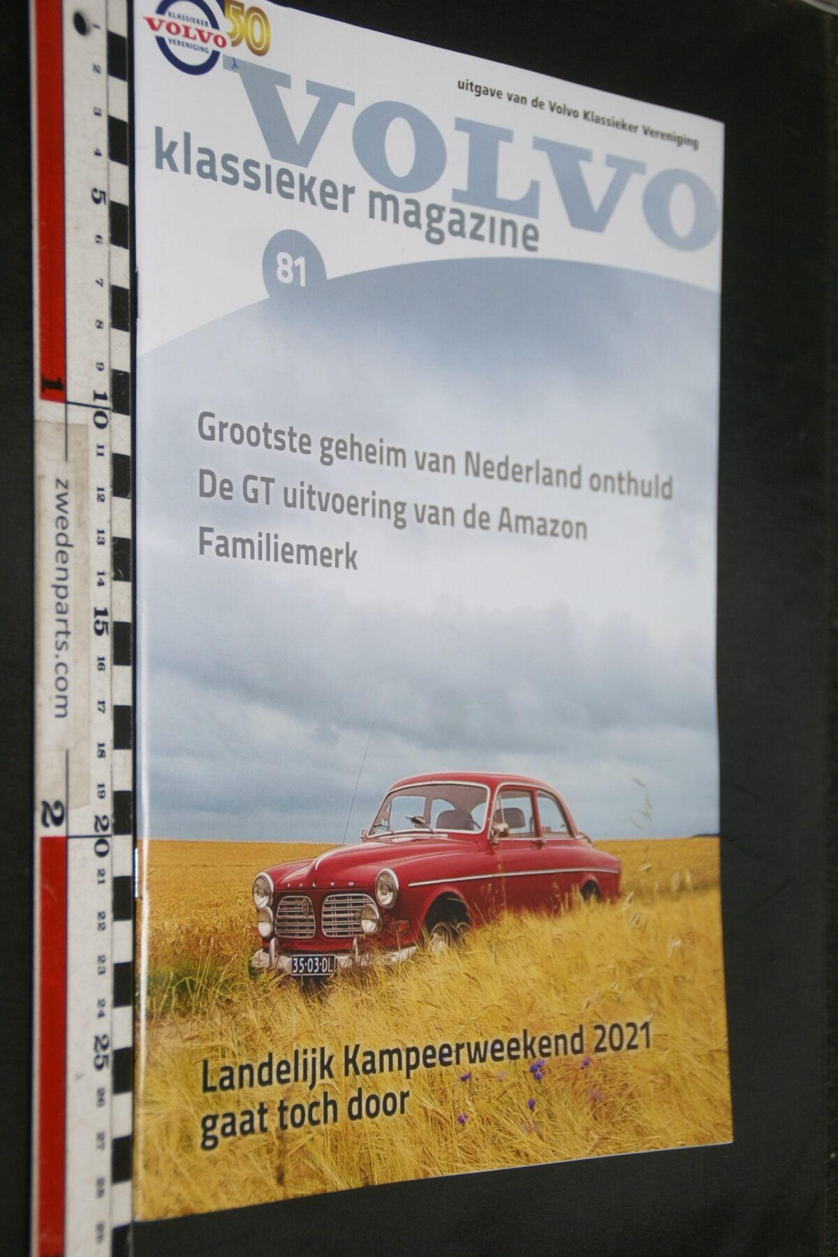 DSC02613 2020 origineel tijdschrift Volvo Klassieker Magazine, nr 81-3ef81ba5
