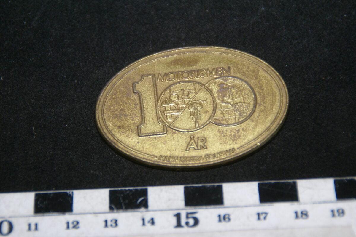 DSC02019 ca. 80er jaren originele peenning Motorismen 100 jaar, Zweeds-b379263f