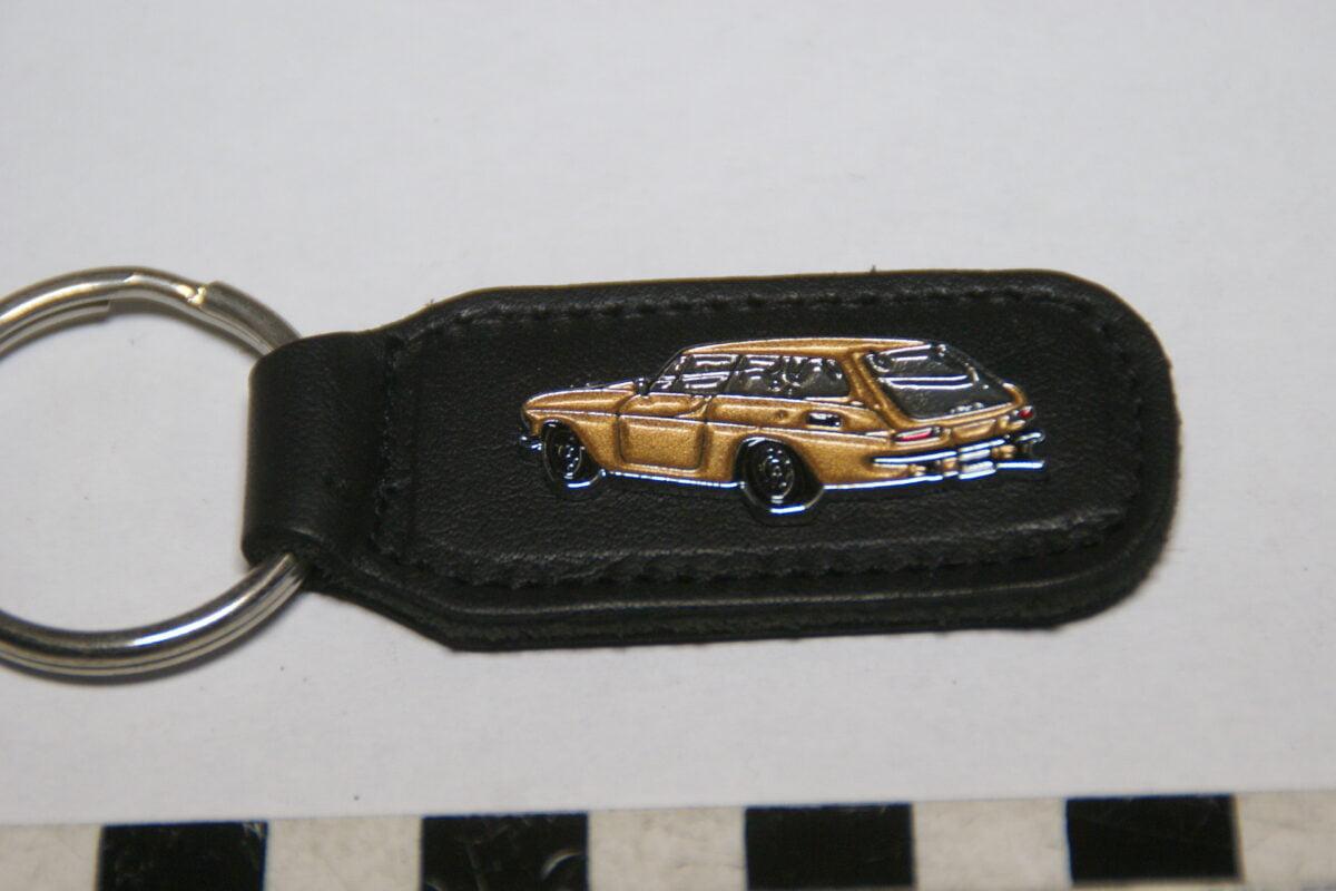 DSC02043 ca. 90er jaren originele sleutelhanger Volvo Amazon 1800ES goud mint-909fc928