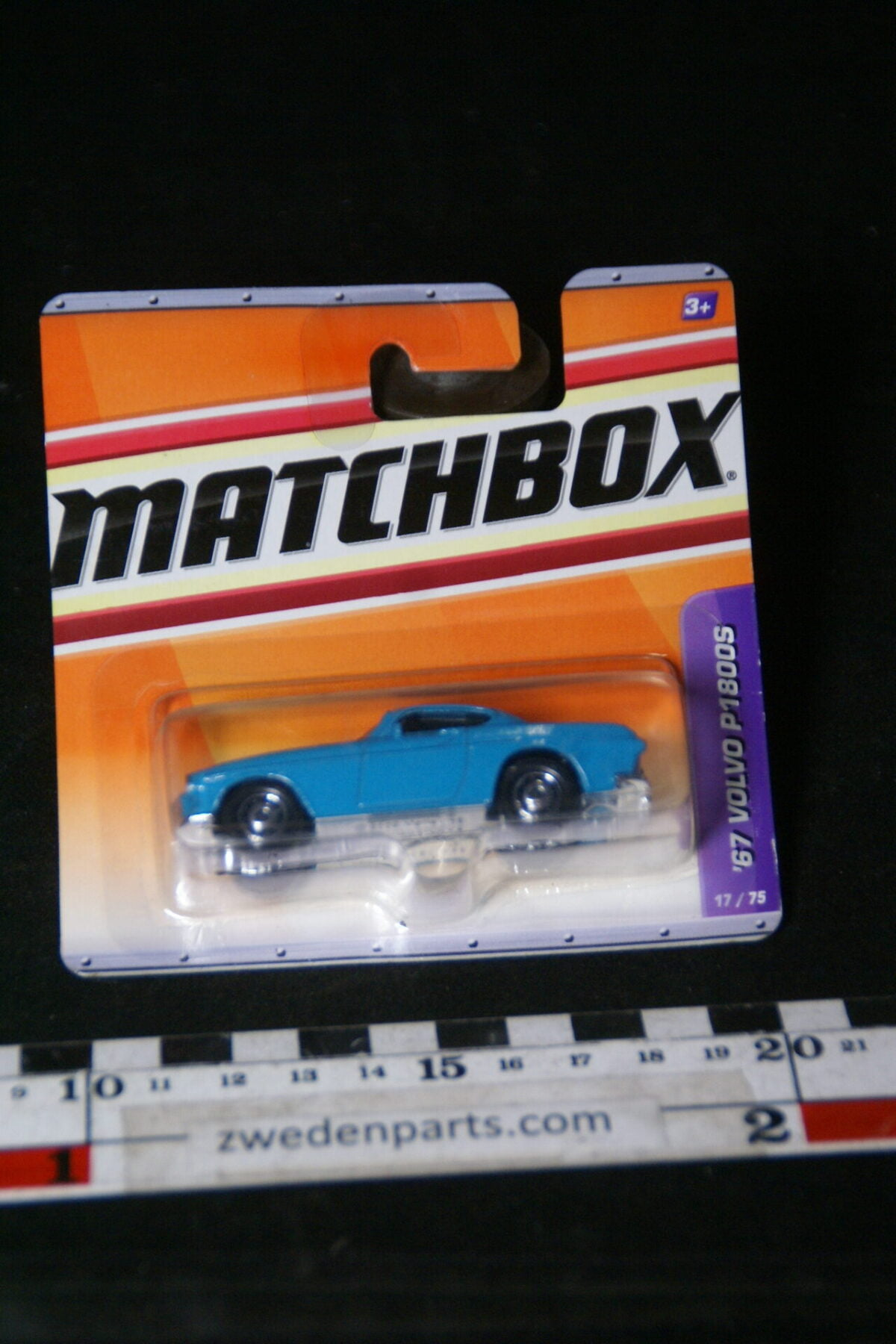 DSC02073 2010 origineel miniatuur Volvo P1800S blauw Matchbox MB-3d39530a