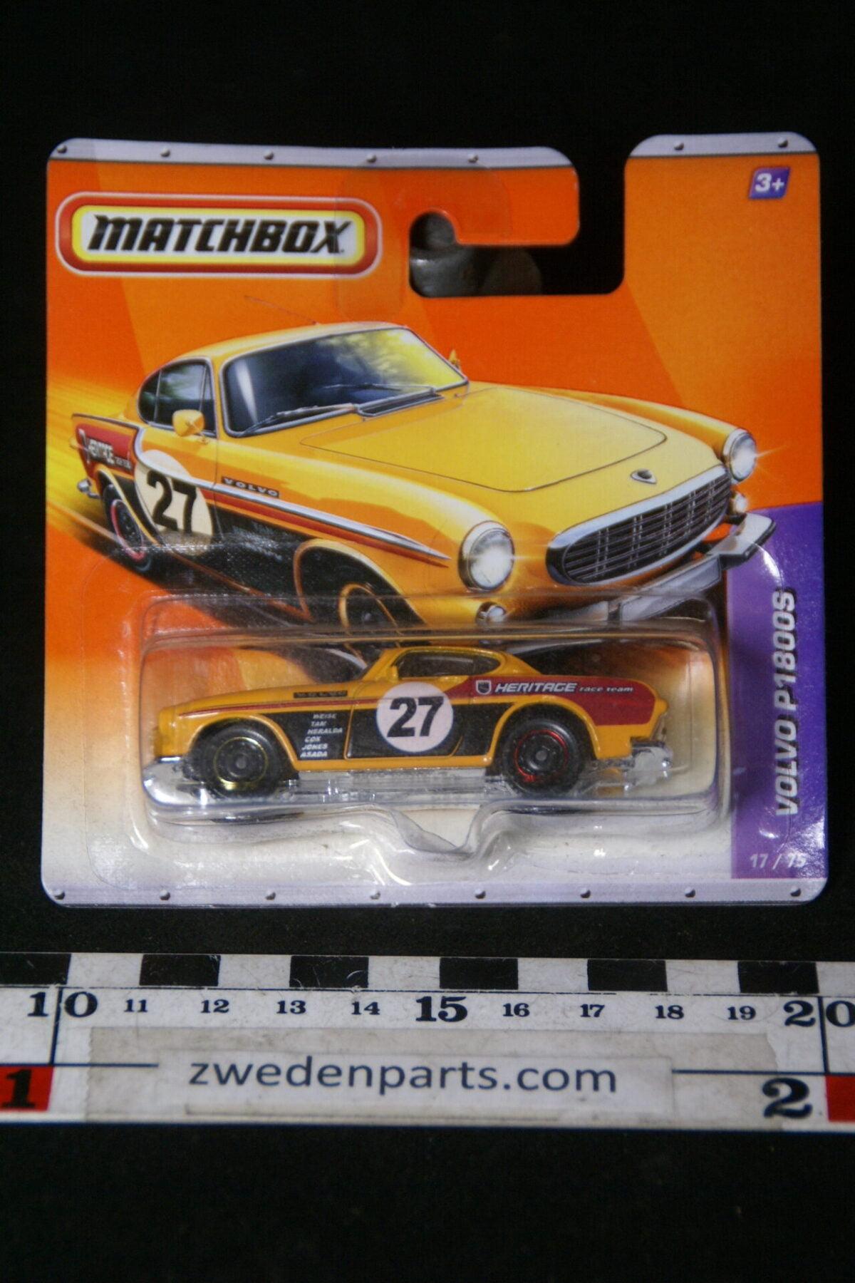 DSC02077 2011 origineel miniatuur Volvo P1800S geel Heritage racer Matchbox shortblister MB-51f4042f