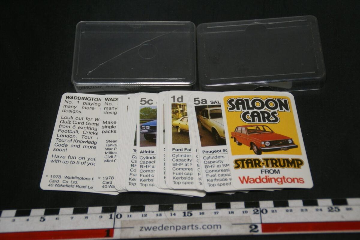DSC02276 ca. 1975 Waddingtons origineel autokwartetspel saloonautos met Volvo 244-8e45fd6e