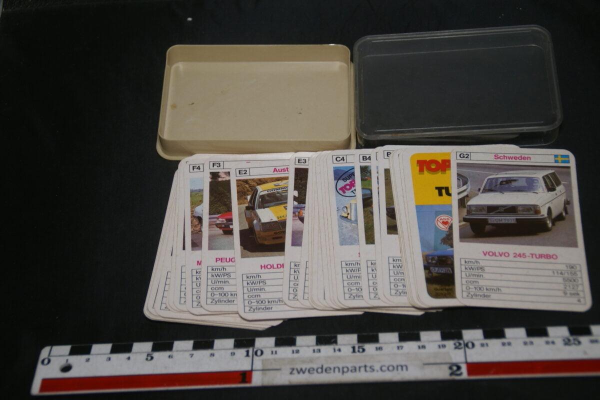 DSC02282 ca. 1985 Top Ass origineel autokwartetspel luxeautos met Volvo 245 Turbo-7c7d28c5