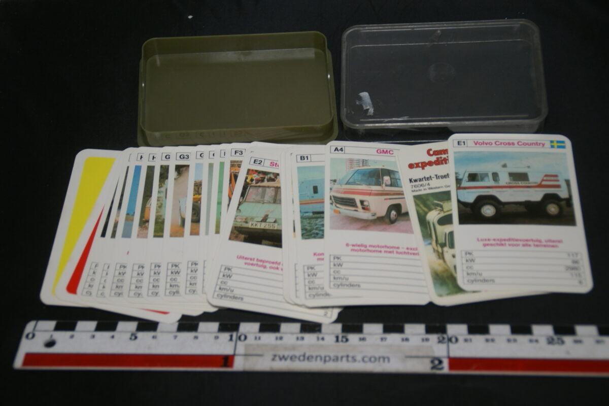 DSC02283 ca. 1975 origineel autokwartetspel busjes campers met Volvo C202 Cross Country-2a2e790c