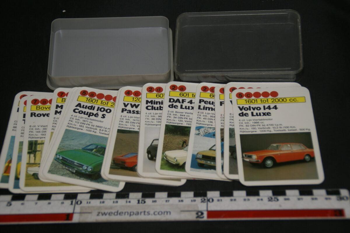 DSC02286 ca. 1967 origineel autokwartetspel luxeautos met Volvo 144DL-7c9debb1