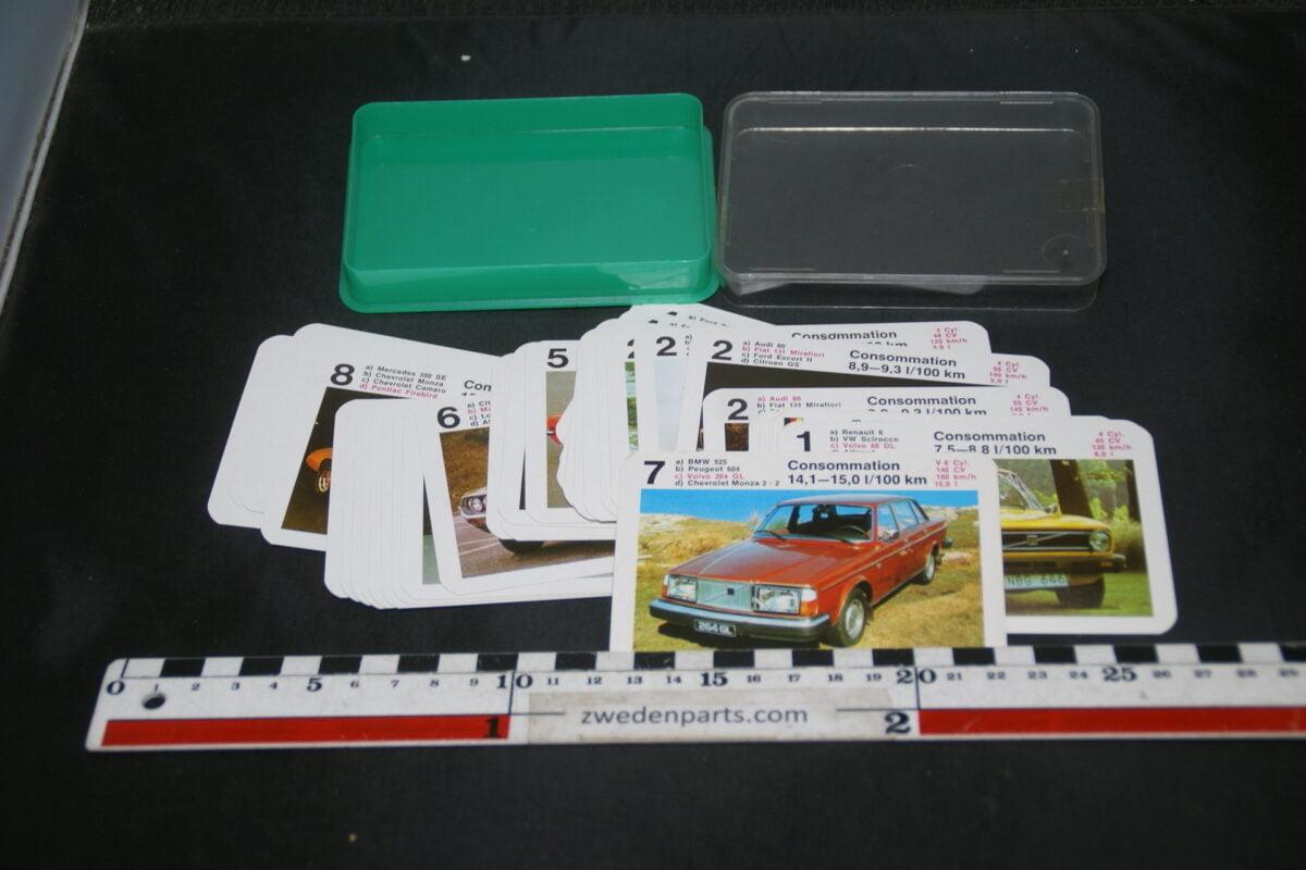 DSC02289 ca. 1976 origineel autokwartetspel luxeautos met Volvo 264 en 66-bbb54102