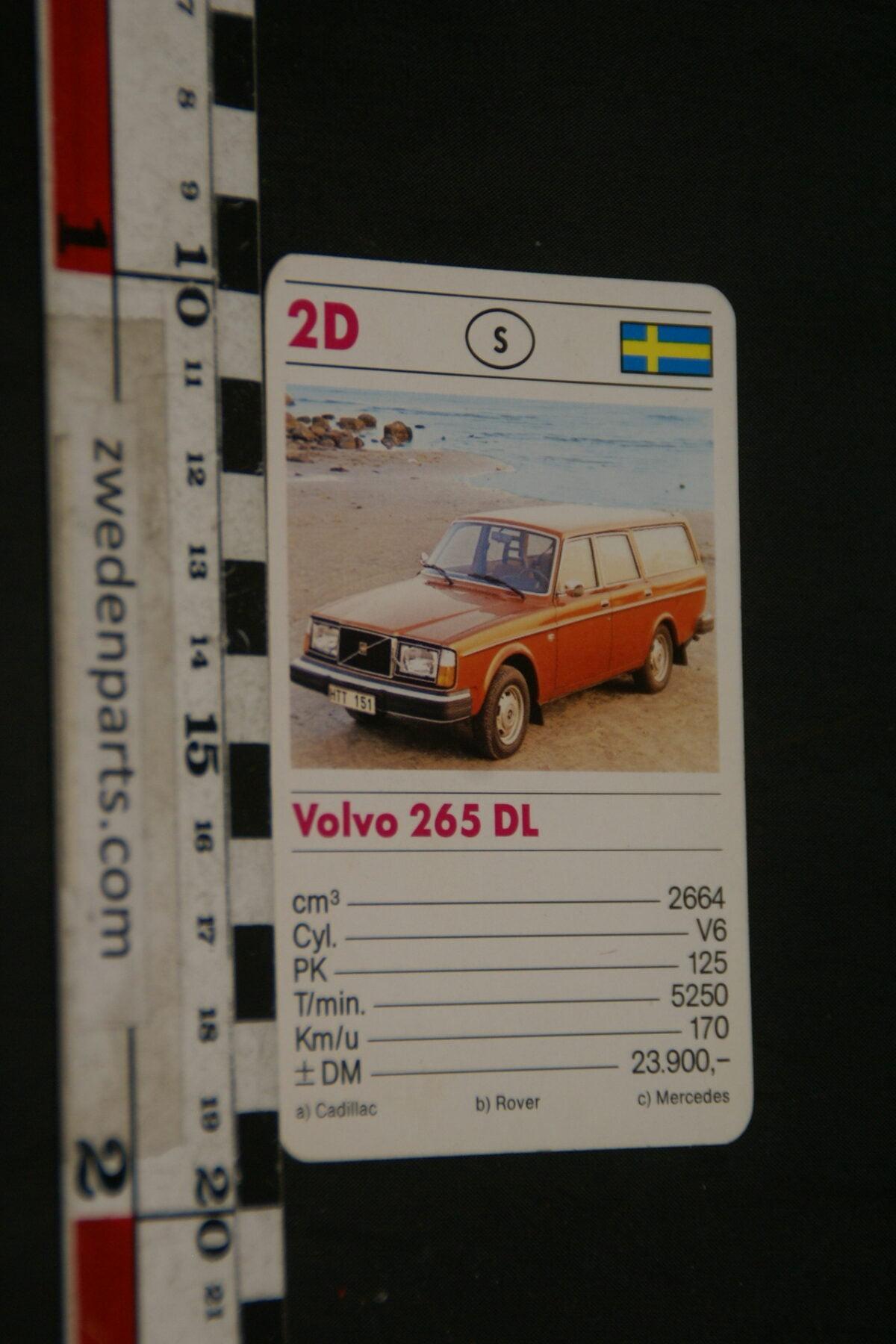 DSC02305 ca. 1975 origineel autokwartetkaart Volvo 265DL-8cc0ad94